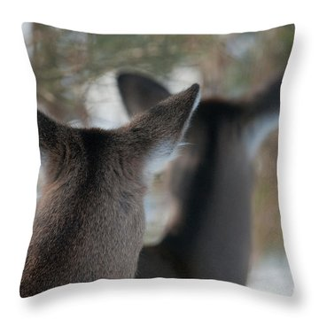 We're All Ears Throw Pillow by Sandra Bronstein