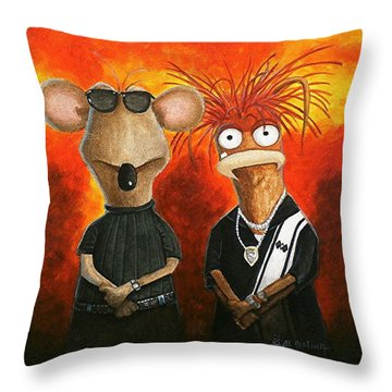 We're Bad Boys Okay Throw Pillow