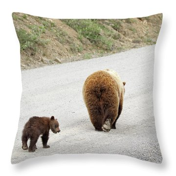 We're Done Here Throw Pillow