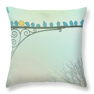 We're Saving You A Spot Throw Pillow by Sandy Moulder