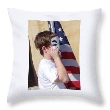We're The Kids In America Throw Pillow
