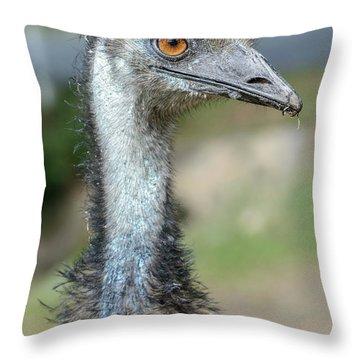 Emu 2 Throw Pillow by Werner Padarin