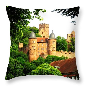 Wertheim Castle Throw Pillow
