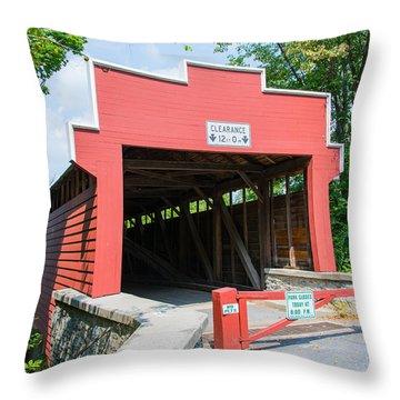 Wertz Covered Bridge Throw Pillow