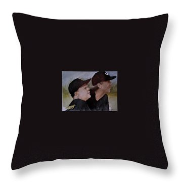 Wes And Dad Throw Pillow