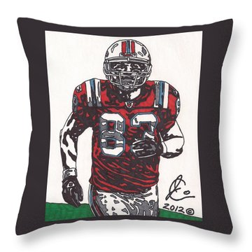 Wes Welker Throw Pillow by Jeremiah Colley
