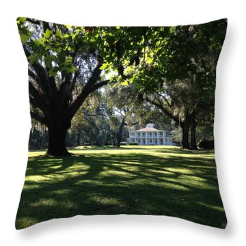 Wesley House Throw Pillow
