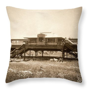 West 207th Street, 1906 Throw Pillow by Cole Thompson