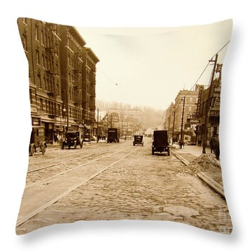 West 207th Street, 1928 Throw Pillow