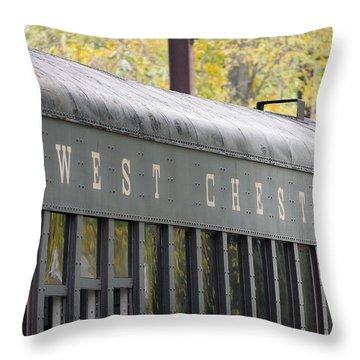 West Chester Railroad - Passenger Car Throw Pillow