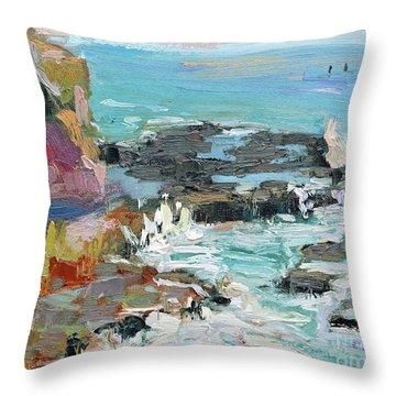 West Cliff Heat Throw Pillow