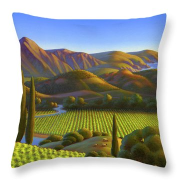 Throw Pillow featuring the painting West Coast Dreaming by Robin Moline