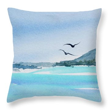West Coast  Isle Of Pines, New Caledonia Throw Pillow