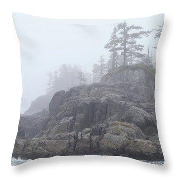 West Coast Landscape Ocean Fog I Throw Pillow