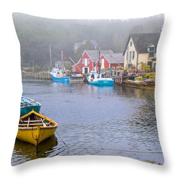 West Dover Harbour Throw Pillow