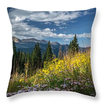 West Elk Mountain Range Throw Pillow
