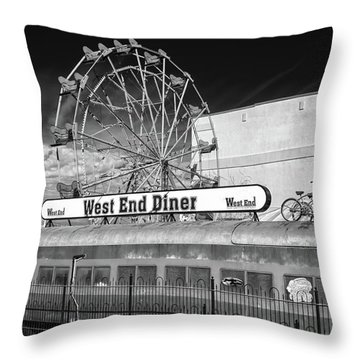 Throw Pillow featuring the photograph West End Diner by James Barber