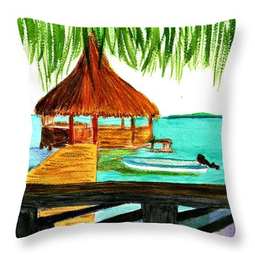 West End Roatan Throw Pillow by Donna Walsh