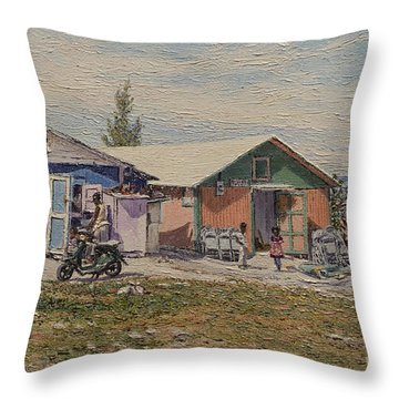 West End - Russell Island Throw Pillow