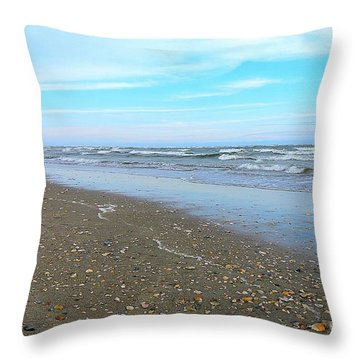 West End Seashells Throw Pillow