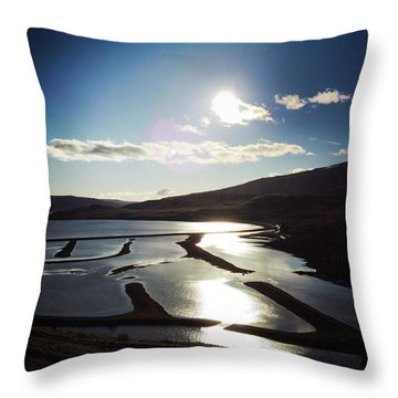 West Fjords Iceland Europe Throw Pillow by Matthias Hauser