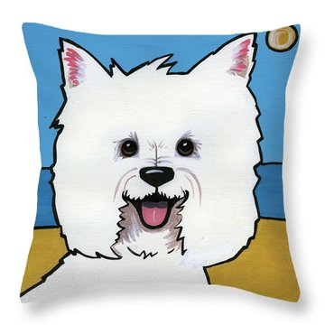 West Highland Terrier Throw Pillow