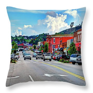 West Jefferson Streetscape Throw Pillow by Dale R Carlson