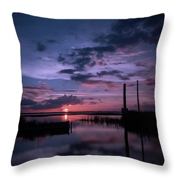 West Lake Toho Blu Indigo Sunset Throw Pillow