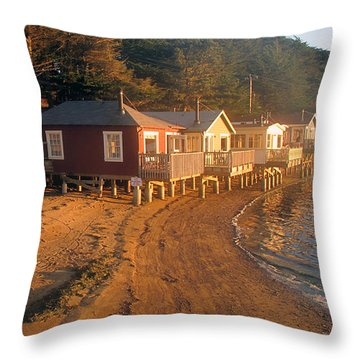 West Marin Nick's Cove Cottages Throw Pillow
