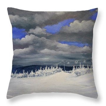 Throw Pillow featuring the painting West Meadow Choice by Ken Ahlering