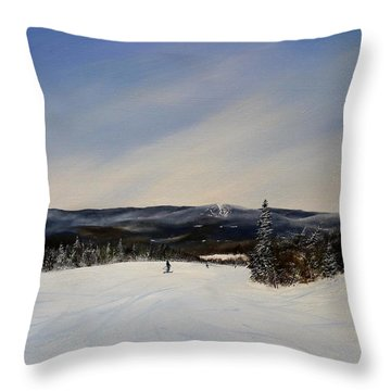 Throw Pillow featuring the painting West Meadow Smooth by Ken Ahlering