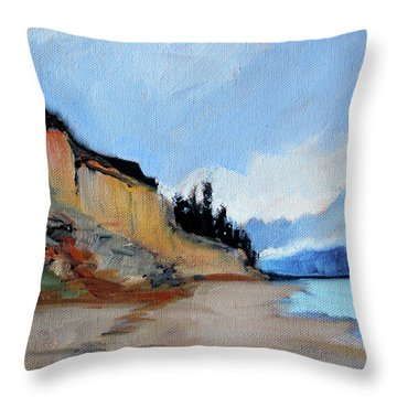 Throw Pillow featuring the painting West Of Dungeness by Nancy Merkle