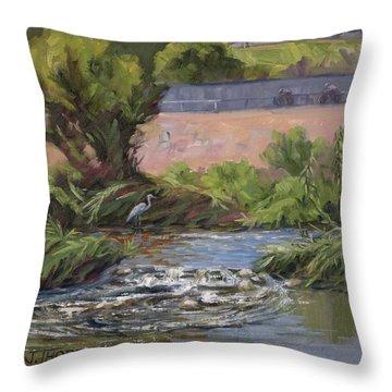 West Of Fletcher Bridge Throw Pillow