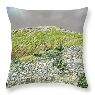 West Of The Hill Country Throw Pillow