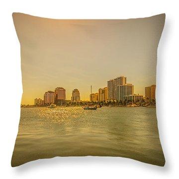 West Palm Serene Throw Pillow
