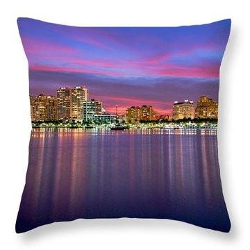 West Palm Sunset Throw Pillow