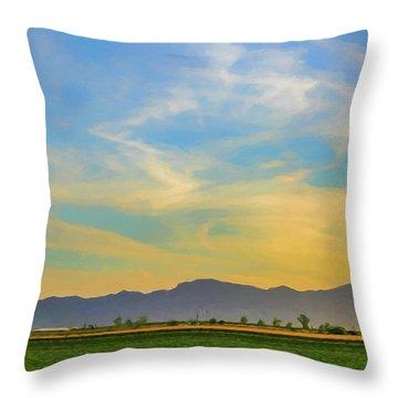 West Phoenix Sunset Digital Art Throw Pillow