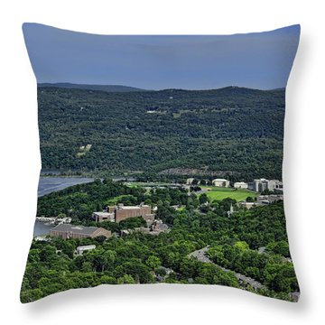 West Point From Storm King Overlook Throw Pillow