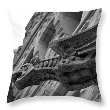 West Point Gargoyle Throw Pillow