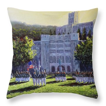 West Point Parade Throw Pillow