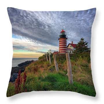Throw Pillow featuring the photograph West Quoddy Head Light Station by Rick Berk