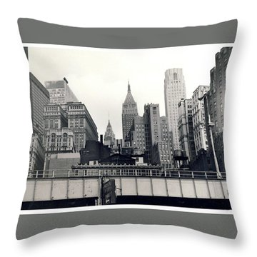 West Side Highway Throw Pillow