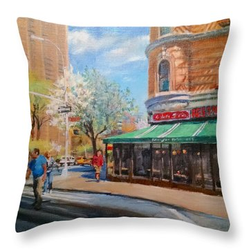 West Side Restaurant Throw Pillow