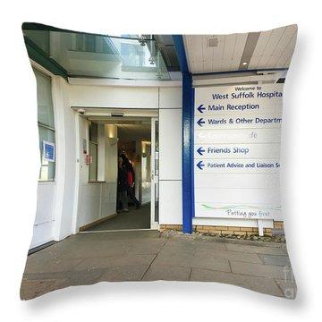 West Suffolk Hospital Throw Pillow