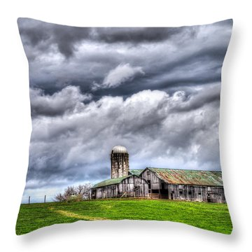 West Virginia Barn Throw Pillow