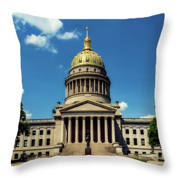 West Virginia Capitol - Charleston Throw Pillow by L O C