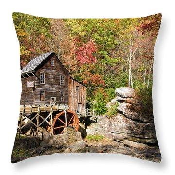 West Virginia Mill Throw Pillow