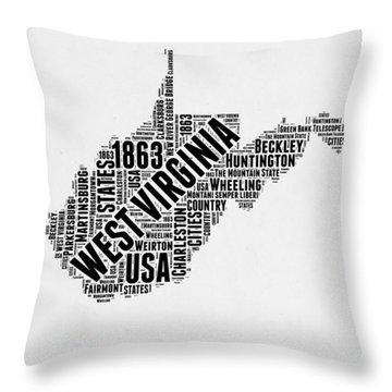 West Virginia Throw Pillows