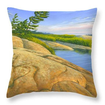 Throw Pillow featuring the painting Wind Swept by Michael Swanson