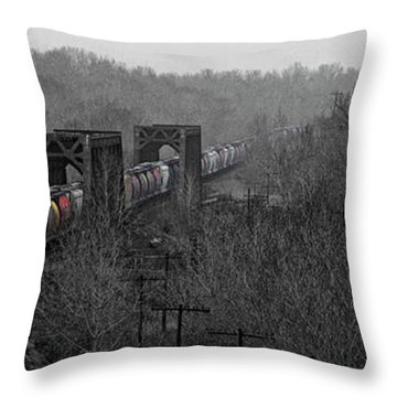 Westbound Grain Throw Pillow
